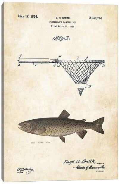 Tahoe Trout Fishing Lure Canvas Art Print