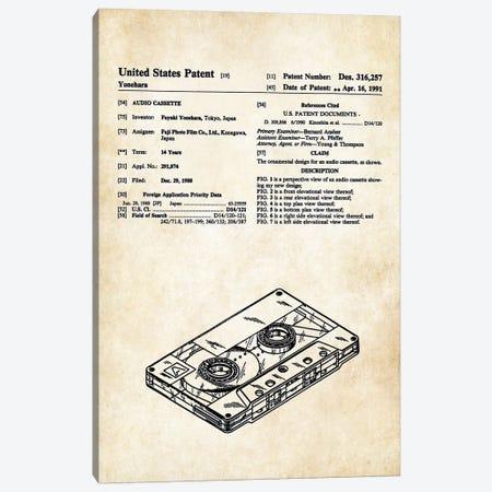 Tape Cassette Canvas Print #PTN259} by Patent77 Canvas Art