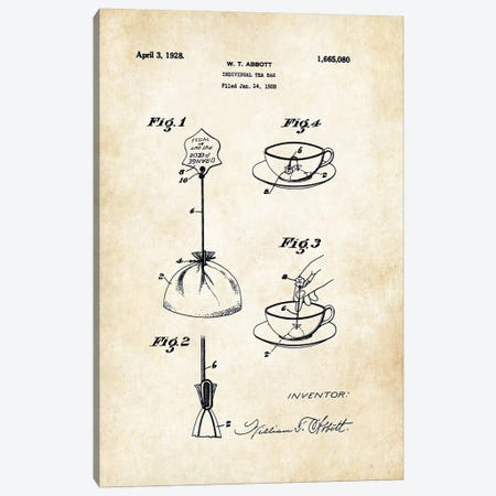 Tea Bag Canvas Print #PTN261} by Patent77 Art Print