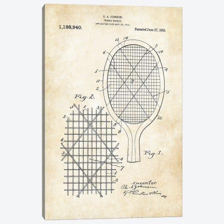 Tennis Racket Canvas Print #PTN262} by Patent77 Art Print