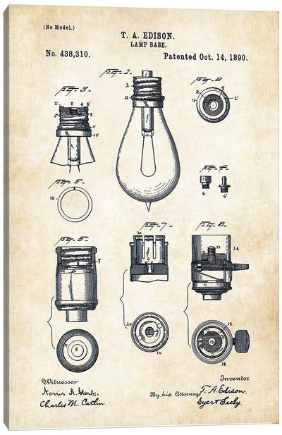 Thomas Edison Lamp Canvas Art Print
