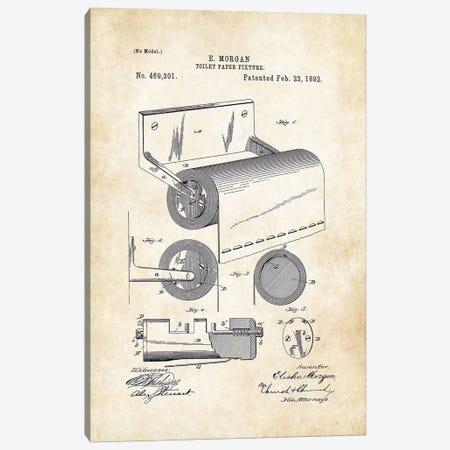 Toilet Paper Fixture Canvas Print #PTN268} by Patent77 Art Print