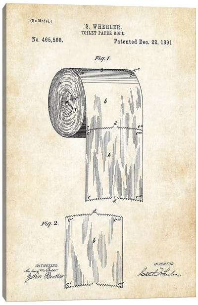 Toilet Paper Roll Canvas Art Print