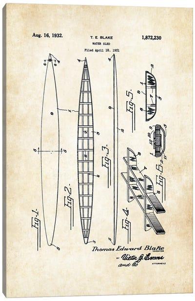 Tom Blake Surfboard (1932) Canvas Art Print