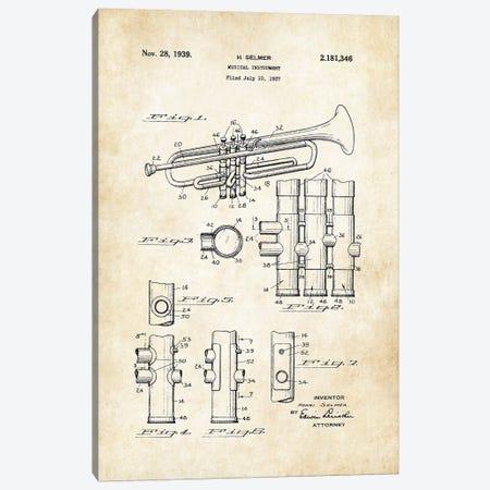 Trumpet (1939) Canvas Print #PTN276} by Patent77 Canvas Art Print