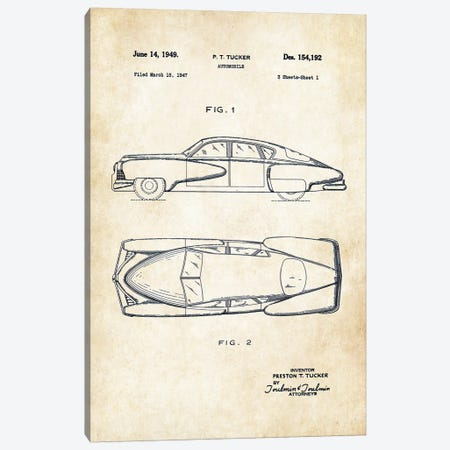 Tucker Torpedo (1949) Canvas Print #PTN277} by Patent77 Art Print