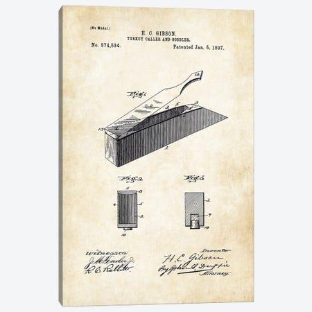 Turkey Box Caller Canvas Print #PTN278} by Patent77 Canvas Art