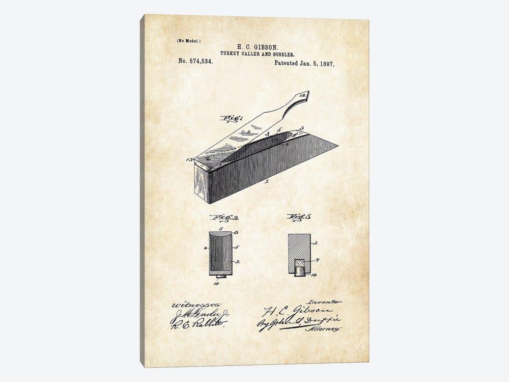 Turkey Box Caller by Patent77 1-piece Art Print