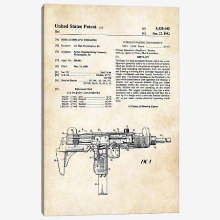 Uzi Submachine Gun Canvas Print #PTN279} by Patent77 Canvas Art