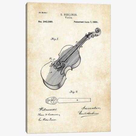 Violin Canvas Print #PTN282} by Patent77 Art Print