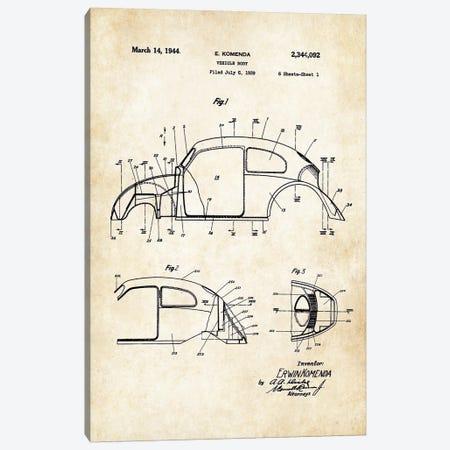 Volkswagen Beetle Canvas Print #PTN283} by Patent77 Canvas Print