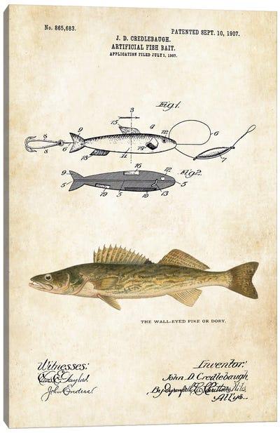 Walleye Dory Fishing Lure Canvas Art Print