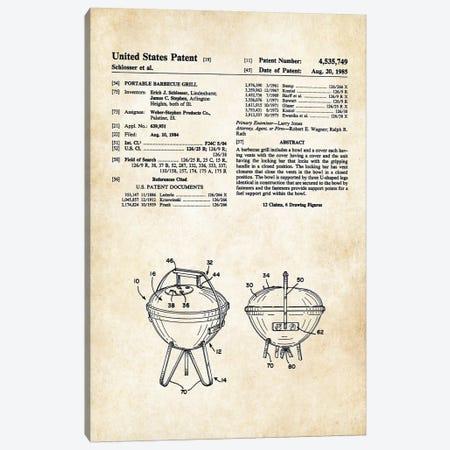 Weber BBQ Grill Canvas Print #PTN288} by Patent77 Art Print