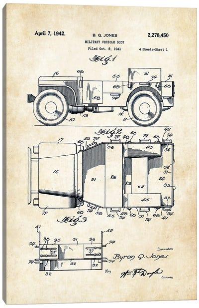 Willys Jeep  Canvas Art Print