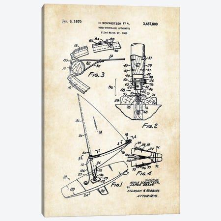 Windsurfer Canvas Print #PTN295} by Patent77 Canvas Print