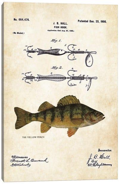 Yellow Perch Fishing Lure Canvas Art Print