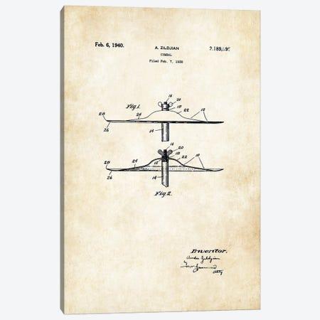 Zildjian Cymbal  Canvas Print #PTN298} by Patent77 Canvas Art
