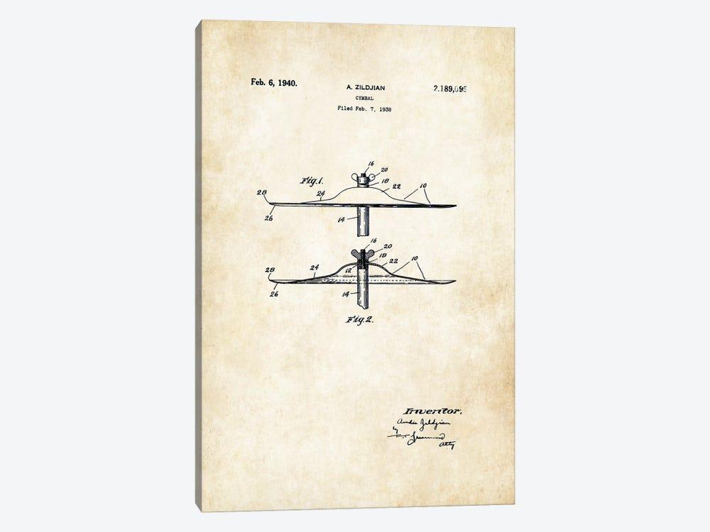 Zildjian Cymbal  by Patent77 1-piece Canvas Art Print