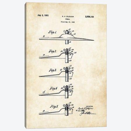 Zildjian Cymbal  Canvas Print #PTN299} by Patent77 Canvas Wall Art