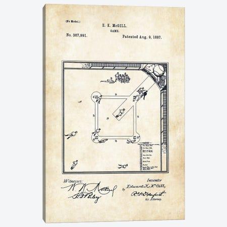 Baseball Game (1887) Canvas Print #PTN29} by Patent77 Canvas Print
