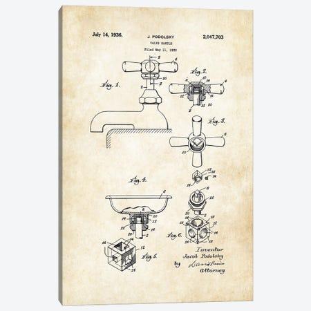 Bathroom Faucet (1936) Canvas Print #PTN30} by Patent77 Canvas Art