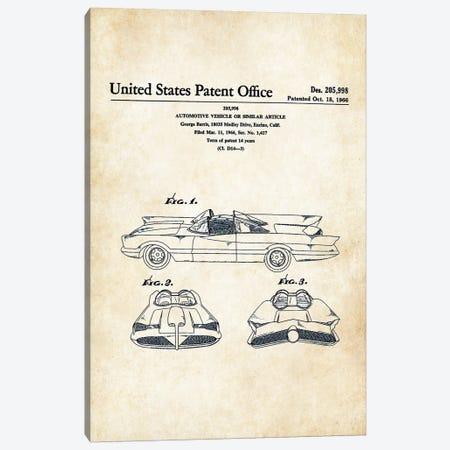 Batman Batmobile (1966) Canvas Print #PTN31} by Patent77 Canvas Art