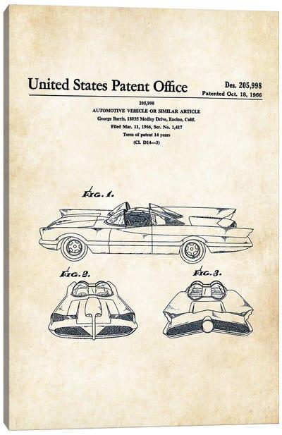 Batman Batmobile (1966) Canvas Art Print