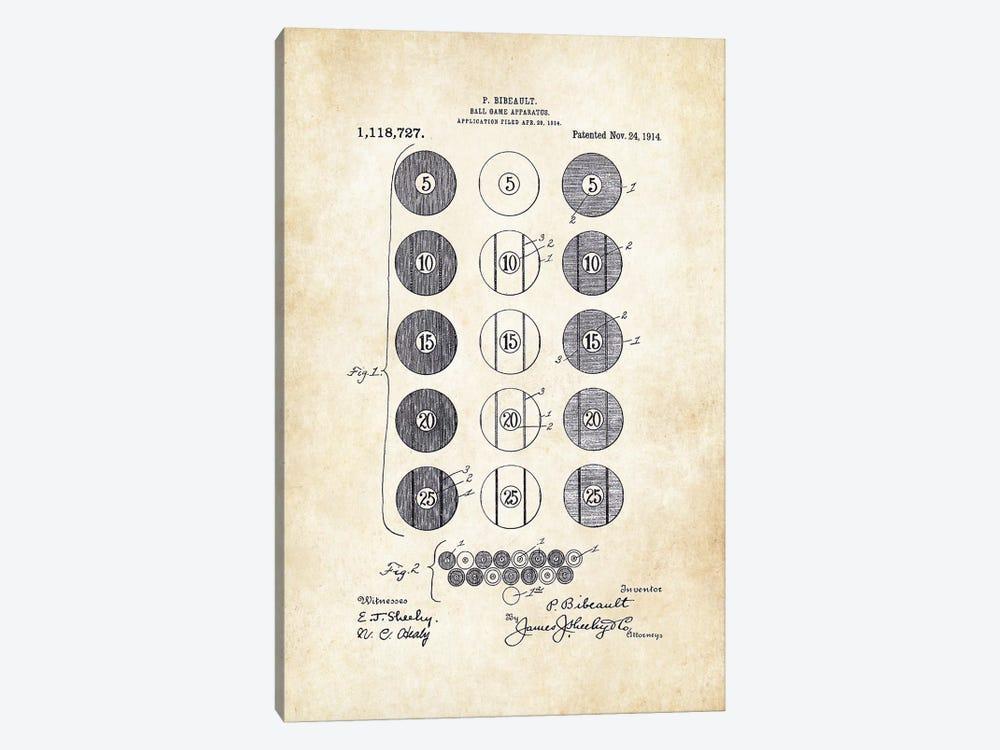 Billiard/Pool Balls by Patent77 1-piece Canvas Art