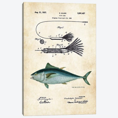 Bluefin Tuna Fishing Lure Canvas Print #PTN38} by Patent77 Canvas Art