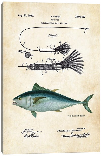 Bluefin Tuna Fishing Lure Canvas Art Print