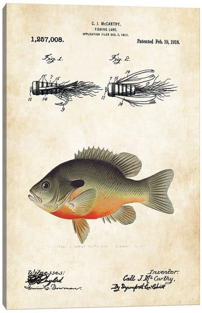 Bluegill Sunfish Fishing Lure Canvas Art Print