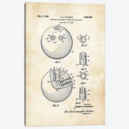 Bowling Ball Canvas Print #PTN42} by Patent77 Canvas Print