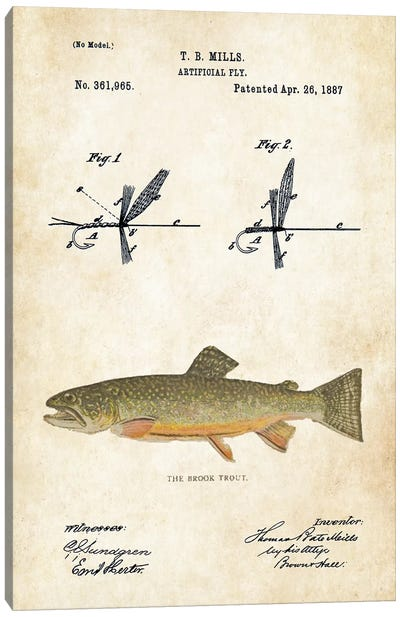 Brook Trout Fishing Lure Canvas Art Print