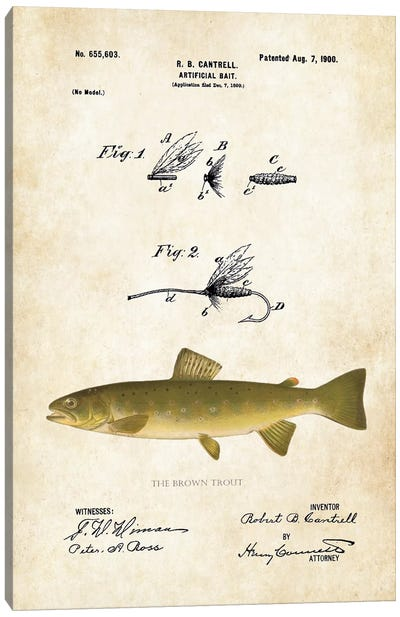 Brown Trout Fishing Lure Canvas Art Print