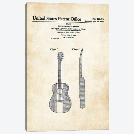 Buck Owens Acoustic Guitar Canvas Print #PTN47} by Patent77 Canvas Art