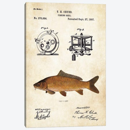 Carp Fishing Lure Canvas Print #PTN50} by Patent77 Canvas Art