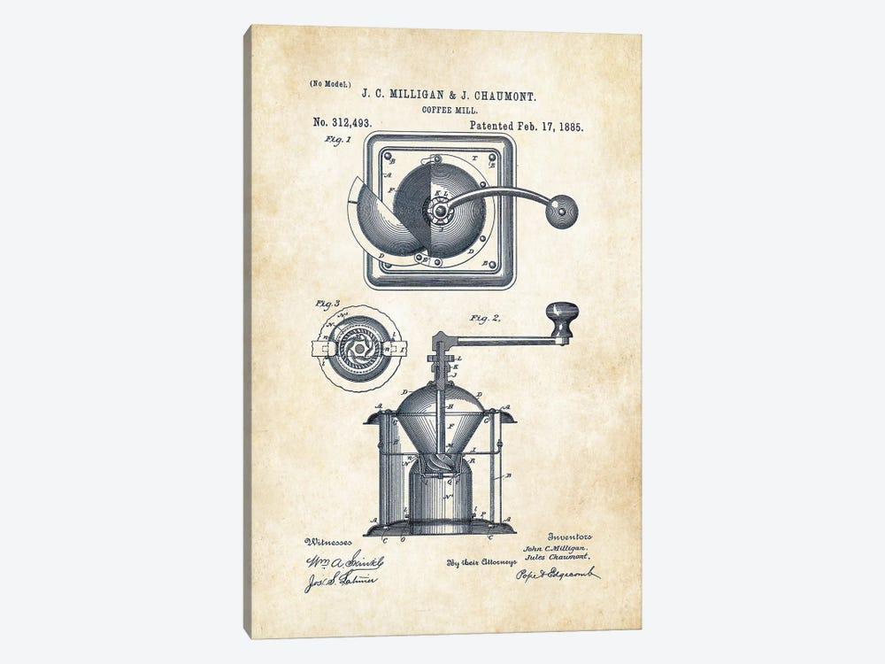 Coffee Mill by Patent77 1-piece Art Print