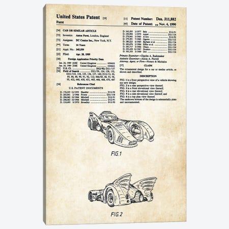 1989 Batmobile Canvas Print #PTN5} by Patent77 Canvas Art Print