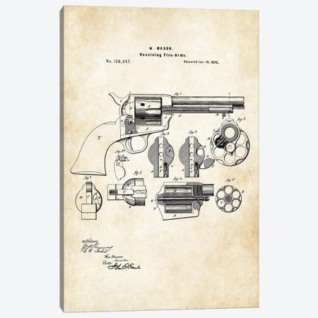 Colt Peacemaker Revolver Canvas Print #PTN64} by Patent77 Canvas Art