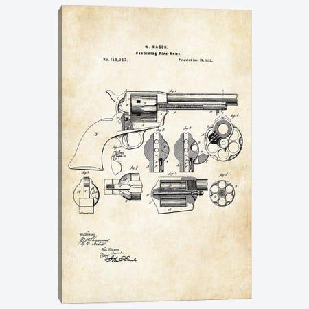 Colt Peacemaker Revolver 3-Piece Canvas #PTN64} by Patent77 Canvas Art