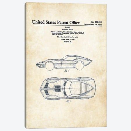 Corvette Mako Shark (1966) Canvas Print #PTN66} by Patent77 Canvas Art