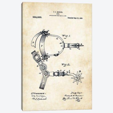 Cowboy Spurs Canvas Print #PTN68} by Patent77 Art Print