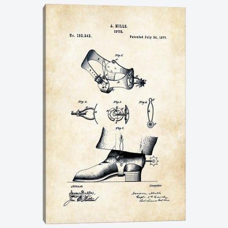 Cowboy Spurs Canvas Print #PTN69} by Patent77 Art Print
