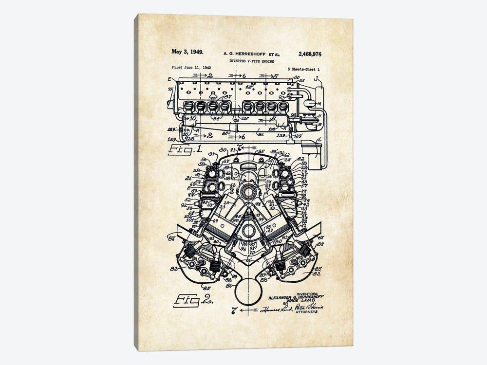 331 Hemi Engine by Patent77 1-piece Art Print