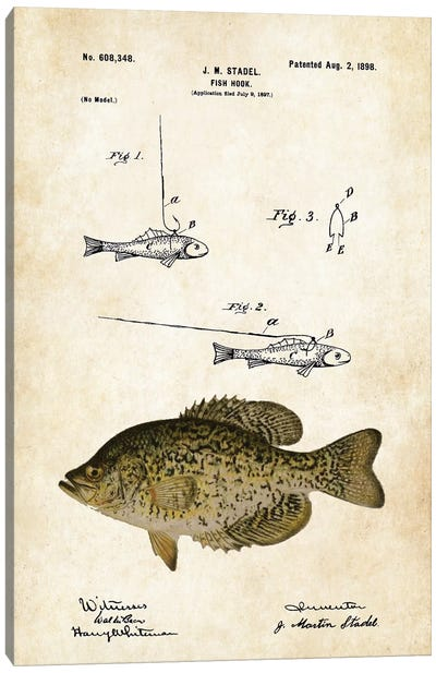 Crappie Fishing Lure Canvas Art Print
