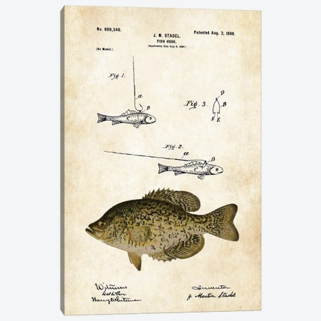 Crappie Fishing Lure Canvas Print #PTN71} by Patent77 Canvas Artwork