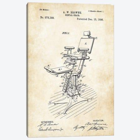 Dentist Chair (1896) 3-Piece Canvas #PTN74} by Patent77 Canvas Print