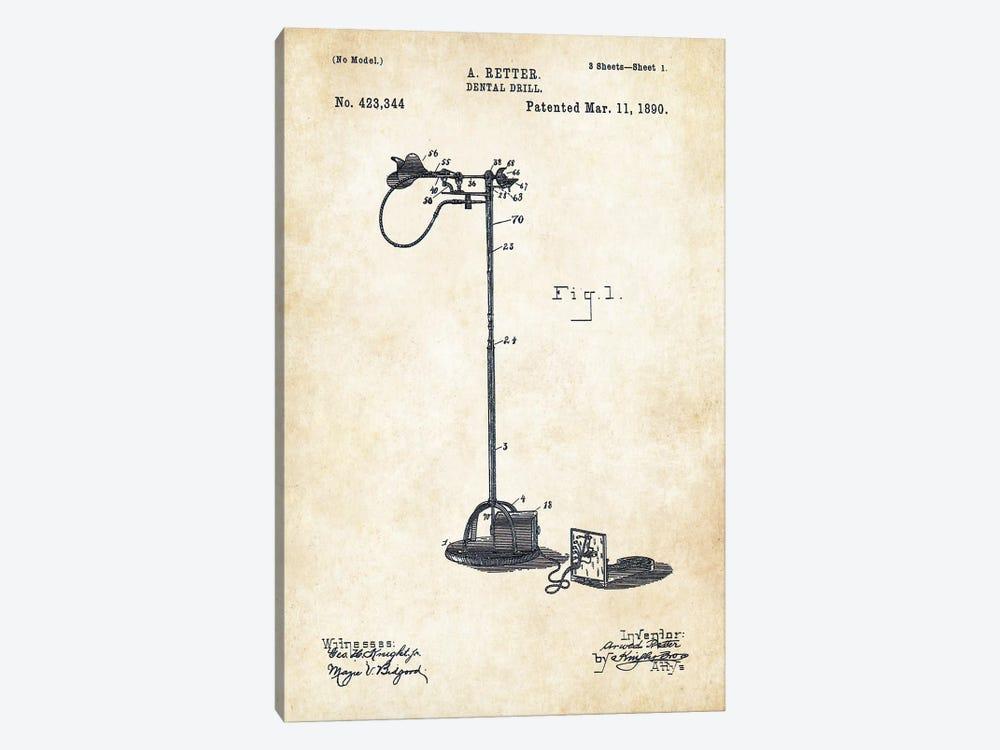 Dentist Drill (1890) by Patent77 1-piece Art Print