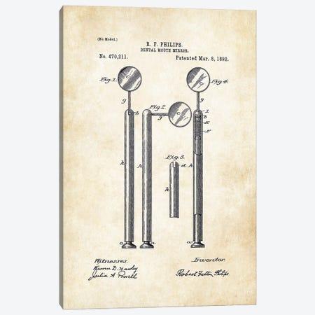 Dentist Mirror 3-Piece Canvas #PTN76} by Patent77 Art Print