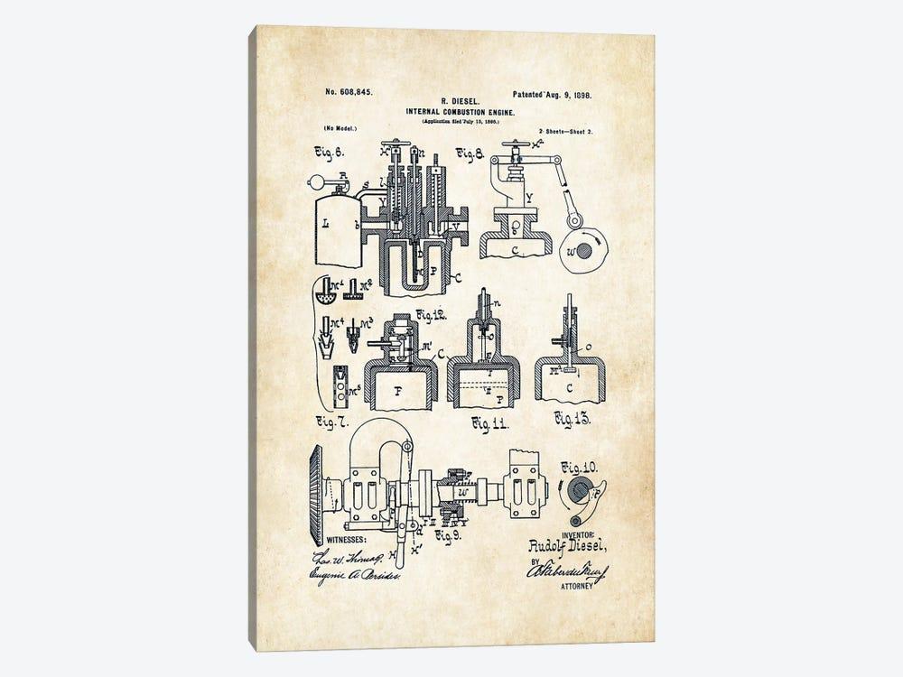 Diesel Engine (1898) by Patent77 1-piece Art Print